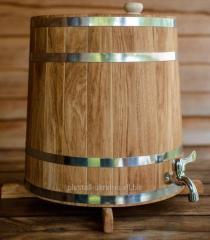 Бочка (жбан) дубовый для напитков 60 литров