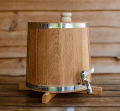 Бочка (жбан) дубовый для напитков 5 литров