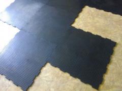 Коврики резиновые, Модульное  резиновое  покрытие