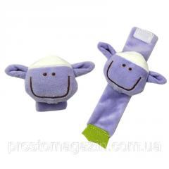 Браслет - погремушка для младенцев на запястье или