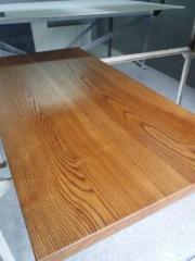 Деревянная столешница из дерева массив ясеня для