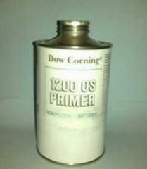 Primer for silicone elastomers, silicone foams,