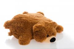 Подушка игрушка Алина мишка коричневая