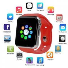 Умные наручные смарт часы Smart Watch A1, Sim card