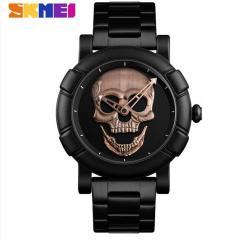 Оригинальные мужские часы Skmei Skull 9178 Bronze