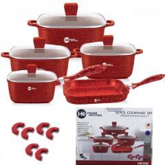 Набор кастрюль и сковорода Higher Kitchen HK-308,