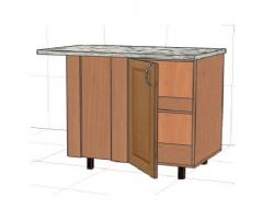 Furniture cases. The case lower angular with a