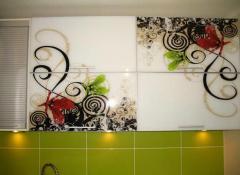 Фасады мебельные из плит и декоративного стекла