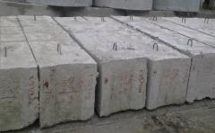 The block is base reinforced concrete.