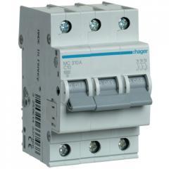 Автоматический выключатель Hager MC310A 3-полюсный