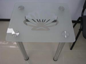 Столы стеклянные с логотипом, Украина