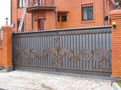 Ворота откатные с ковкой, продажа ворот откатных