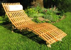Plank beds from the producer, Chaise lounges from