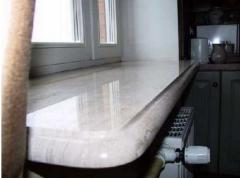 Window sills from a natural stone, granite