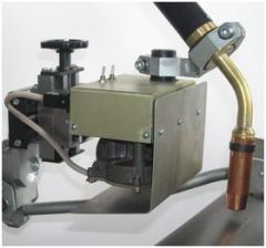 Kolebatel of a welding torch of KG1