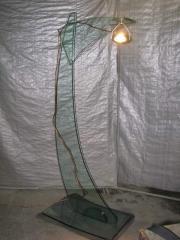 Floor lamps glass