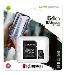 Карта памяти micro SDHC 64GB Kingston (class 10)