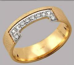 Кольца обручальные золотые, заказать Львов