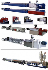 Extrusive lines, extruders, pipe lines