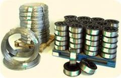 Wire and accessories for gardens and vineyards of