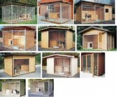 Open-air cages. Animals enclosures.