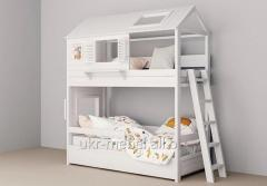 Bed for kindergarten, the Kolobok model