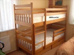 Bed for kindergarten, the Kolobok model