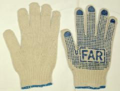 Regular gloves x / with PVC poin
