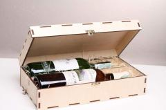 Wooden packing for wine and champagne | Gifts a