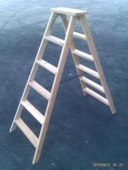 Step-ladder wooden 2х6 steps of STARSTROY