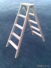 Step-ladder wooden 2х5 steps of STARSTROY