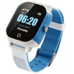 Детские смарт-часы Lemfo DF50 Ellipse Aqua с GPS трекером Бело-голубой (695)