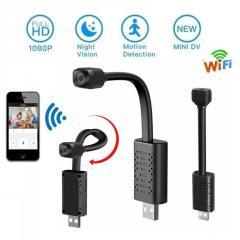 Мини камера WIFI USB на гибком шлейфе с...