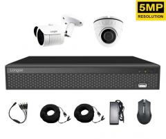 Комплект видеонаблюдения через интернет 5 Мп...