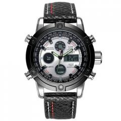 AMST 3022 Silver-Black-Silver Fluted...