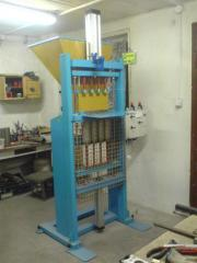 Equipment for production of candles