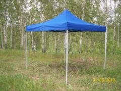 Tent 3kh3m. Fast-sliding express awning.