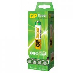 Батарейка GP SUPER ALKALINE 1.5 24A-PD40-S4 лужна,