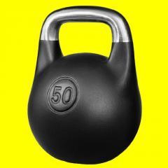 Гиря 50 кг чугунная, черный матовый цвет
