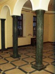 Columns from granite