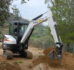 Pass the Bobcat E16 excavator