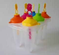 Форма пластмассовая для мороженного из 6 шт