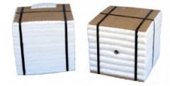 Modular blocks on the basis of a keramovolokn of