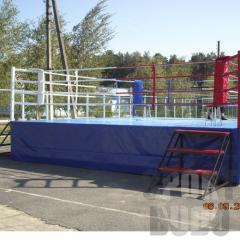 Rings are boxing. A ring for boxing on a scaffold.