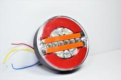Фонарь задний круглый с полосой LED 12-24V (