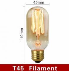 Винтажная лампа Едисона лампочка освещение желтое
