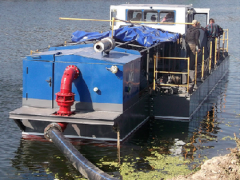 Equipment for extraction of gold dredges.