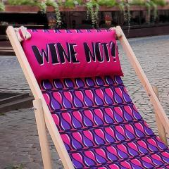 Шезлонг деревянный Wine not оригинальный подарок
