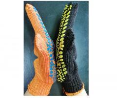 Перчатки трикотажные плотные с ПВХ точкой