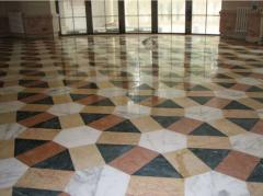 Floors mosaic granite